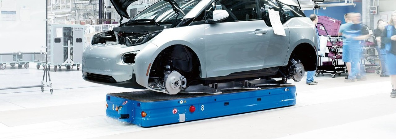 dpm Automated Guided Vehicles final assembly car